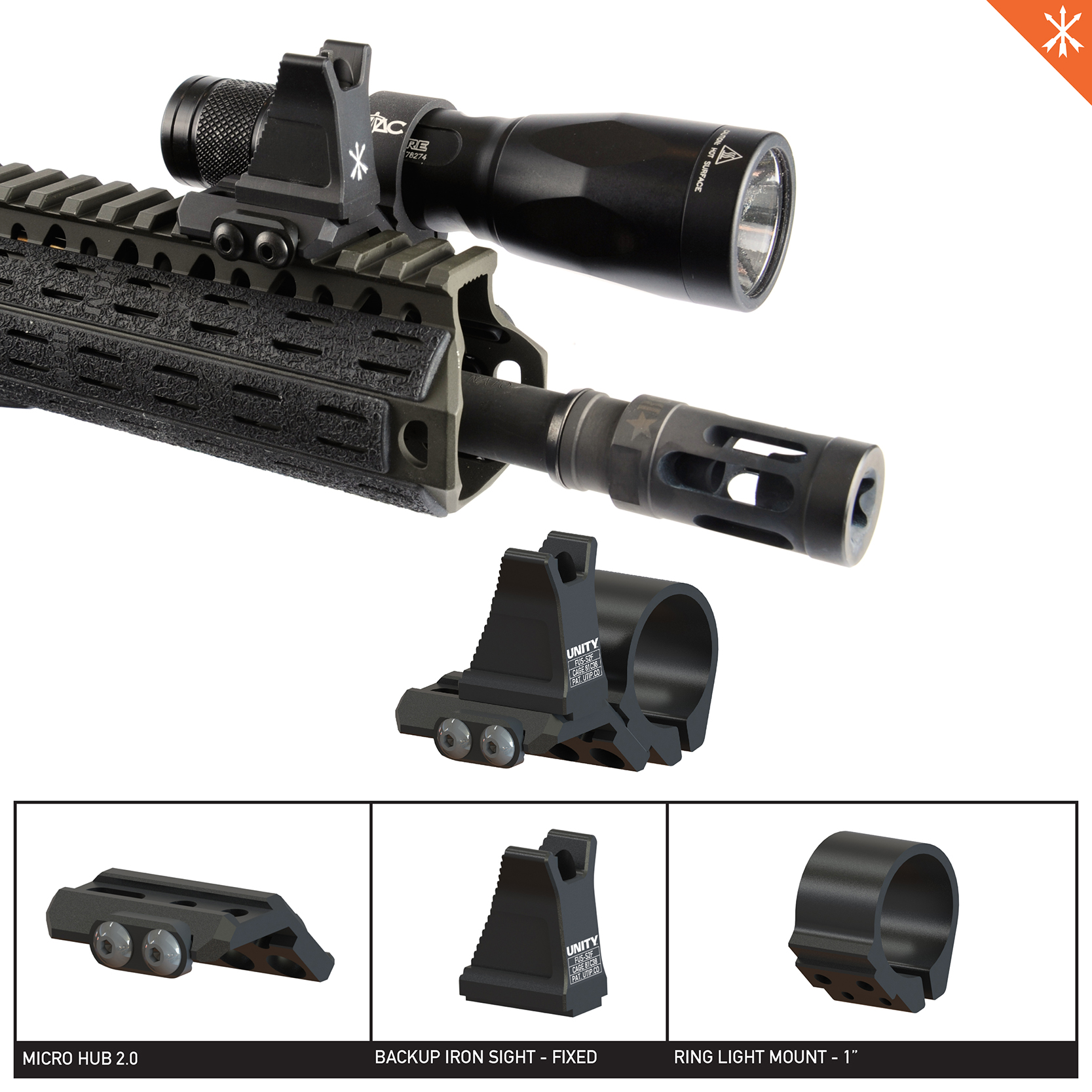 Unity Tactical FUSION - Fixed Backup Iron Sight