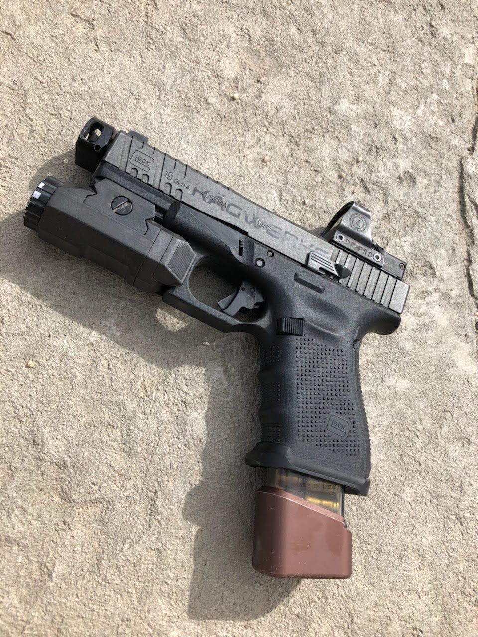 KAGWERKS Extended & Raised Slide Release for Glock Gen 3-4